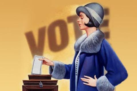 Resultado de imagem para voto feminino CHARGES